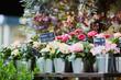 Outdoor flower market in Paris