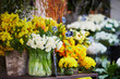 Outdoor flower market in Paris, France