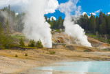 Geothermal pool and steam vents