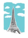 Fototapeta Eiffel Tower - Pocztówka z Paryża © wdesignart
