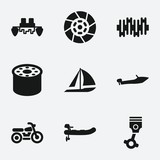 Set of 9 motor filled icons - 139271451