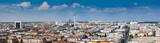 Fototapeta Beautiful panorama of the skyline of Berlin
