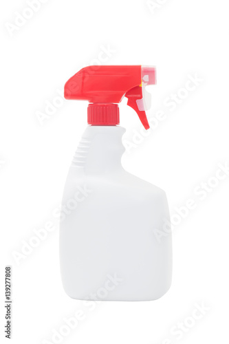 Poster White spray bottle isolated on a white background