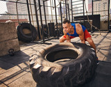 Fototapety Workout with tire