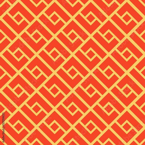 Abstract geometric seamless pattern. Chinese background, modern stylish texture. Geo red and white print fashion sacred geometry. Texture for wrapping paper, textiles, skins smartphones, website