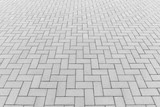 Fototapety Concrete paver block floor pattern for background.