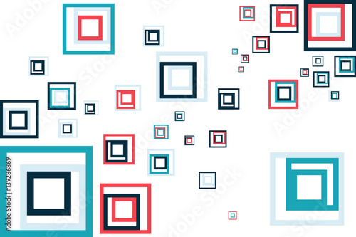 abstract graphics square boxes in colors