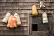 Buoys on the wall, Peggys Cove