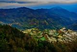 Terraced rice fields in Laohuzui Yuanyang County
