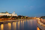September twilight on the Moscow river