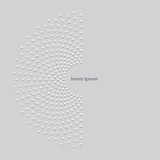 3d abstract dotted half circle background