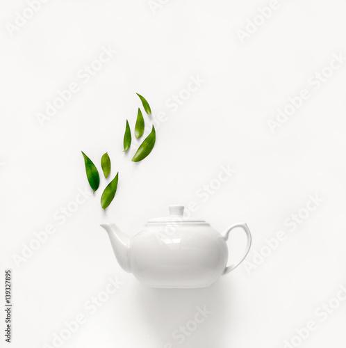 Tea concept, top view