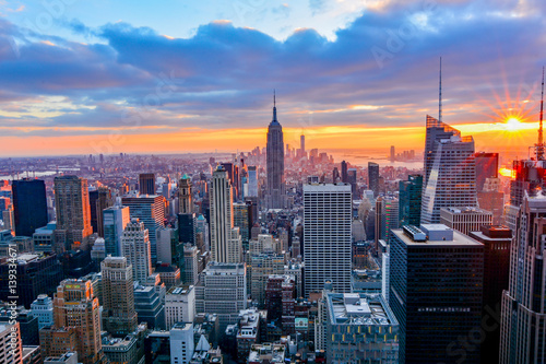 Foto Murales view of new york city at night
