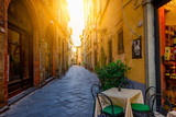 Narrow old cozy street in Lucca, Italy