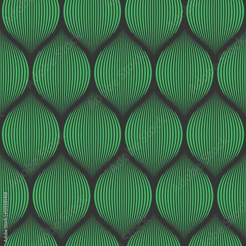 Fototapeta Seamless black and green optical illusion woven pattern vector