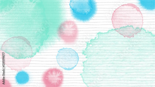 pastel tone color abstract vector background, look like watercolor drop style - 139399877