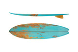 Vintage surfboard isolated on white - Retro styles 60's - 139400065