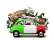 Italy, attractions Italy and retro italian car