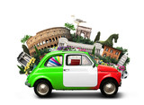Italy, attractions Italy and retro italian car - 139402621