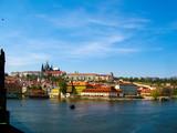 A view of the Prague Castle and the Vltava River
