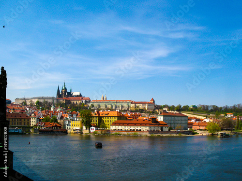 Poster A view of the Prague Castle and the Vltava River