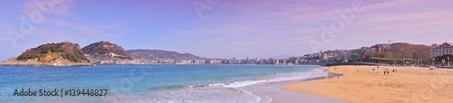La Concha beach in Donostia-San Sebastian. Basque Country. Gipuzkoa. Spain. Europe.