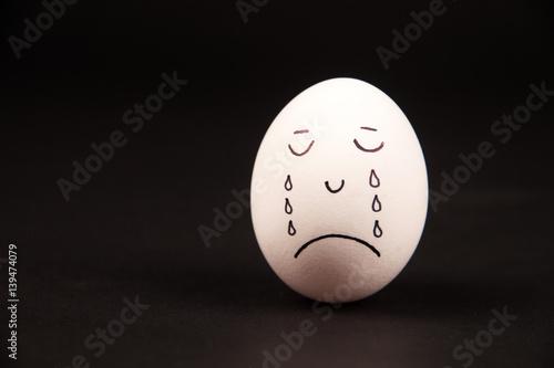 Poster Eier mit Gesichtern