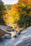 Gorges State Park - Turtleback Fall on Horsepasture River in Autumn