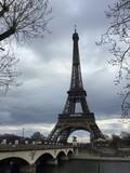 Vista della Torre Eiffel invernale, Parigi, Francia