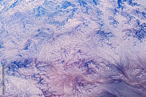 Fotobehang Purper Mountain landscape.