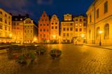 Stockholm, Sweden - Stortorget in Gamla Stan at Night