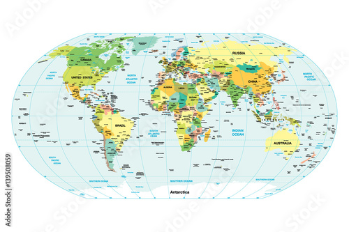 Fototapeta World map.