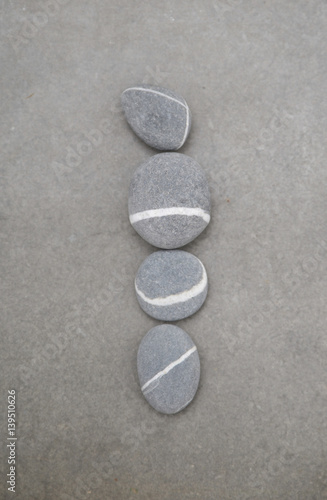Plexiglas Spa zen like concepts.-set of pile of stones