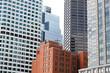 Boston downtown skyscrapers