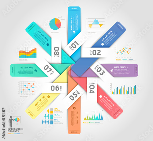 Business infographics elements template. Vector illustrations. Can be used for workflow layout, banner, diagram, number options, web design, timeline template.
