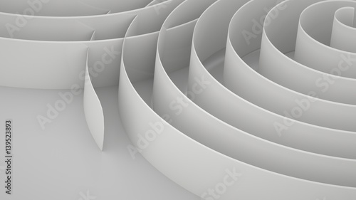 In de dag Abstract wave Abstract background with spirals, 3 d render