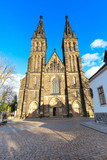 Beautiful basilica of Saint Peter and Saint Paul, Vysehrad, Prague, Czech republic