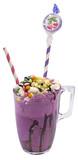 Marshmallow candy milk and ice cream shake