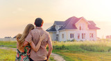 Young Couple Standing Outside Dream Home - 139547617