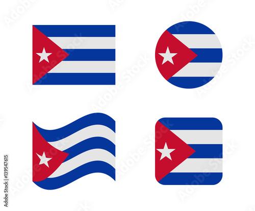 set 4 flags of cuba
