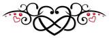 Herz mit Unendlichkeitssymbol. Tribal Style. - 139553231