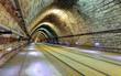 Leinwanddruck Bild Railroad tunnel