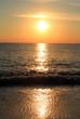 Quadro Sea sundown reflecting in tide waves