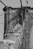 Brooklyn bridge suspension cable up close