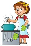 Female cook theme image 2