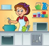 Female cook theme image 3