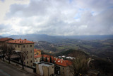 Landscapes and roofs of old city of San Marino