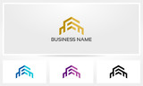 Fototapety Building Flat House Apartment Logo