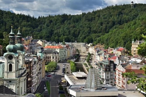 Poster Blick auf Karlovy Vary / Karlsbad in Tschechien