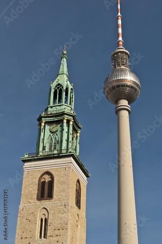 Poster Berlin Fernsehturm - Alexanderplatz